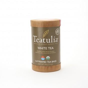 Teatulia Organic white Tea Eco Canister 16 Pyramid