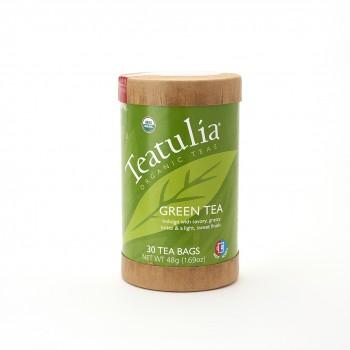 Teatulia Organic Green Tea Eco Canister 16 Pyramid