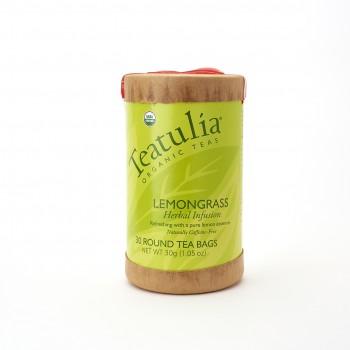 Teatulia Organic Lemongrass Tea Eco Canister 16 Pyramid