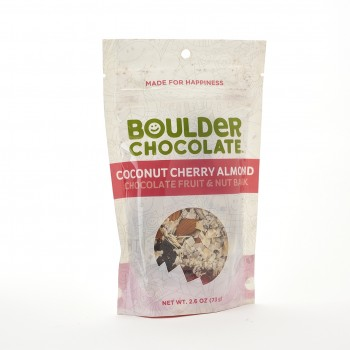 Boulder Chocolate Coconut Cherry Almond Bark 2.6 Oz
