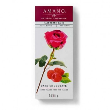 Amano Chocolate Raspberry Rose 3 Oz