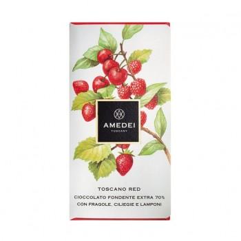Amedei Toscana Red 70 % dark with raspberries and cherries