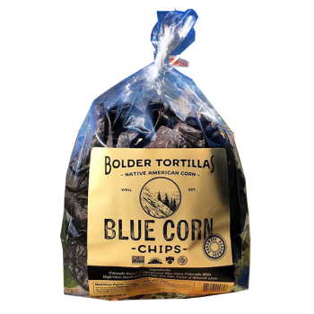 Bolder Blue Corn Tortilla Chips 8 Oz