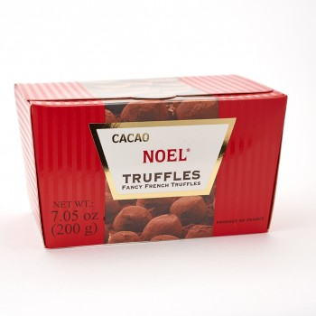 Cacao Noel 7.05 Oz Imported French dark chocolate truffles