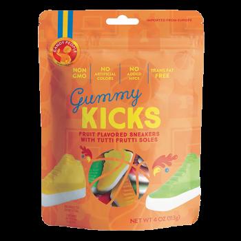 Candy People Non GMO Gelatin Free Gummie Kicks  4 Oz