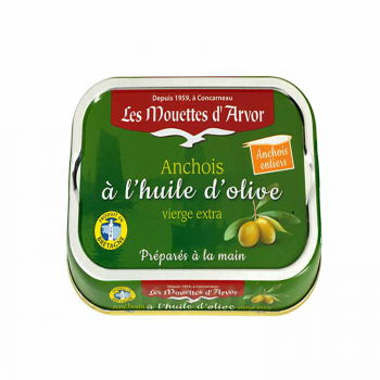 Les Mouettes d'Arvor Anchovies in EVOO 100 Gr