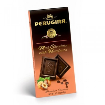 Fine Italian milk chocolate with roasted, caramelized hazelnuts. No artificial flavors, colors or preservatives. Gluten Free.