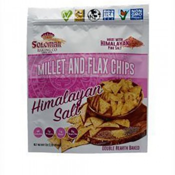Soloman Baking Co Himalayan Sea salt Pita Chips 6 Oz  Local millet and Flax Chips
