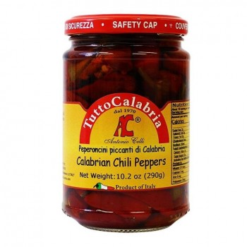 Tutto Calabria Hot Long Chili Peppers, 10.2 oz