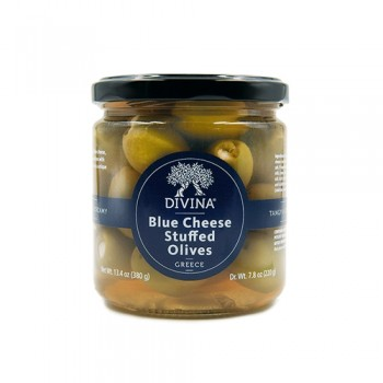 Divina Mt Athos Green Stuffed olives with Blue Cheese Olives 6.7 Oz