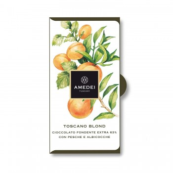 5280 Market and 5280 Gourmet Proudly carry   Amedei Toscano Blond, Dark Chocolate Bar with Peaches and Apricots