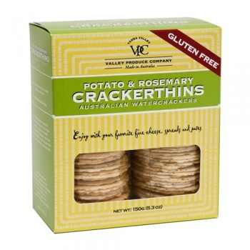 5280 Market Valley Produce Company Gluten Free Potato Rosemary  Crackers 5.3 Oz