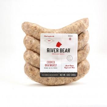 River Bear Bratwurst 12 Oz A Wisconsin style, American Bratwurst