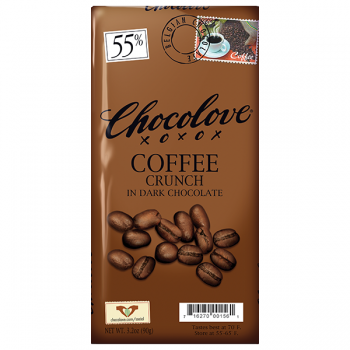 Chocolove Coffee Crunch with dark Chocolate Bar 2.3 Oz