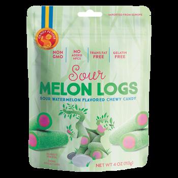 Candy People Non GMO Gelatin Free Sour Melon Logs