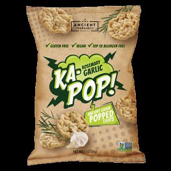 Ka-POP Ancient grain popped Dairy Free Vegan Garlic and Rosemary -5280gourmet.com.