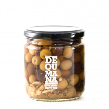 Dequmana Mixed Olives & Herbs - 12oz