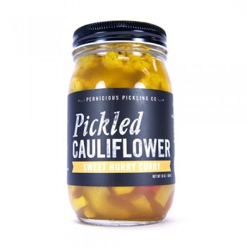 Pernicious Pickling Co Pickled Cauliflower sweet curry hurry