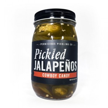 Pernicious Pickling Co Pickled Jalapeno Cowboy Candy-5280Gourmet.com-