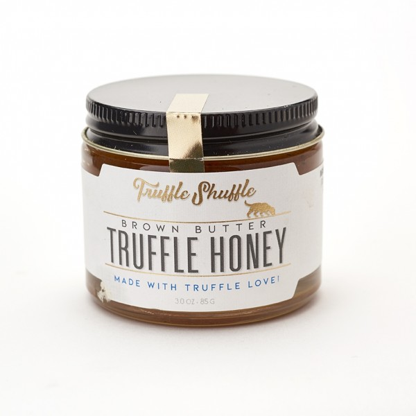 5280 Market and 5280 Gourmet offer Truffle Shuffle Brown butter truffle honey with fleur de sel 4 OZ This small-batch honey is finely crafted with real Oregon truffles, brown butter and a touch of fleur de sel creating a perfectly balanced toasty and swee