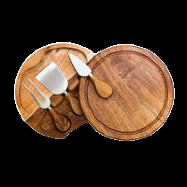 Acacia Cheese Board & Tools Set